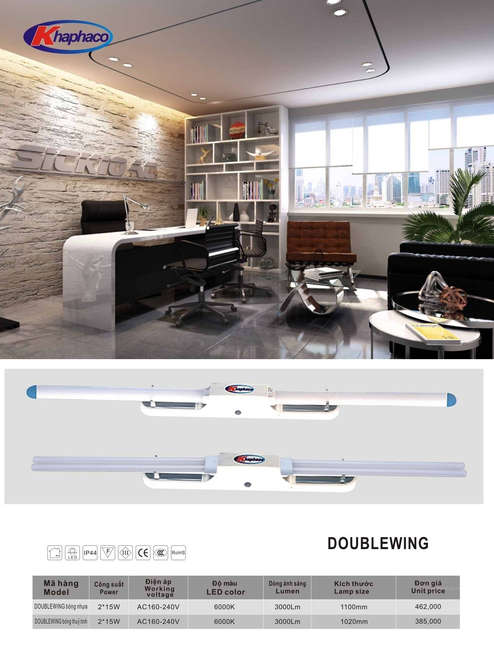 ĐÈN LED DoubleWing DBW